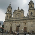Cathedral of the Bolivar Square in Bogotá