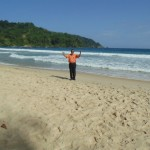 On the beach of Maracas Bay