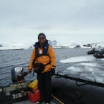 On the rubber boat to the Antarctica Land