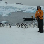 Reached to Antarctic land by Raft