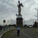 The statue of La Virgen de Quito Ecuador