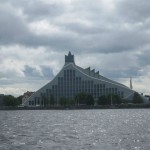 National Library by the side of Daugava River, lifeline of the city, Riga