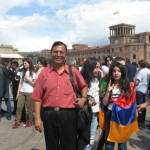 Happy participation on the Victory day celebration at Yerevan