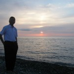 On the Black Sea coast in the evening