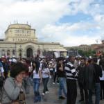 Velvet Revolution Victory day at Republic Square at Yerevan