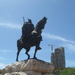 Statue of Skanderbeg Square, Tirana