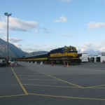 Seward Station of the Scenic Train coming from Anchorage