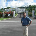 At the site of President's House of Dominica near Parliament