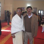With Mr. Faraz, the Secretary of the Evacuee Property Trust Board, Pakistan